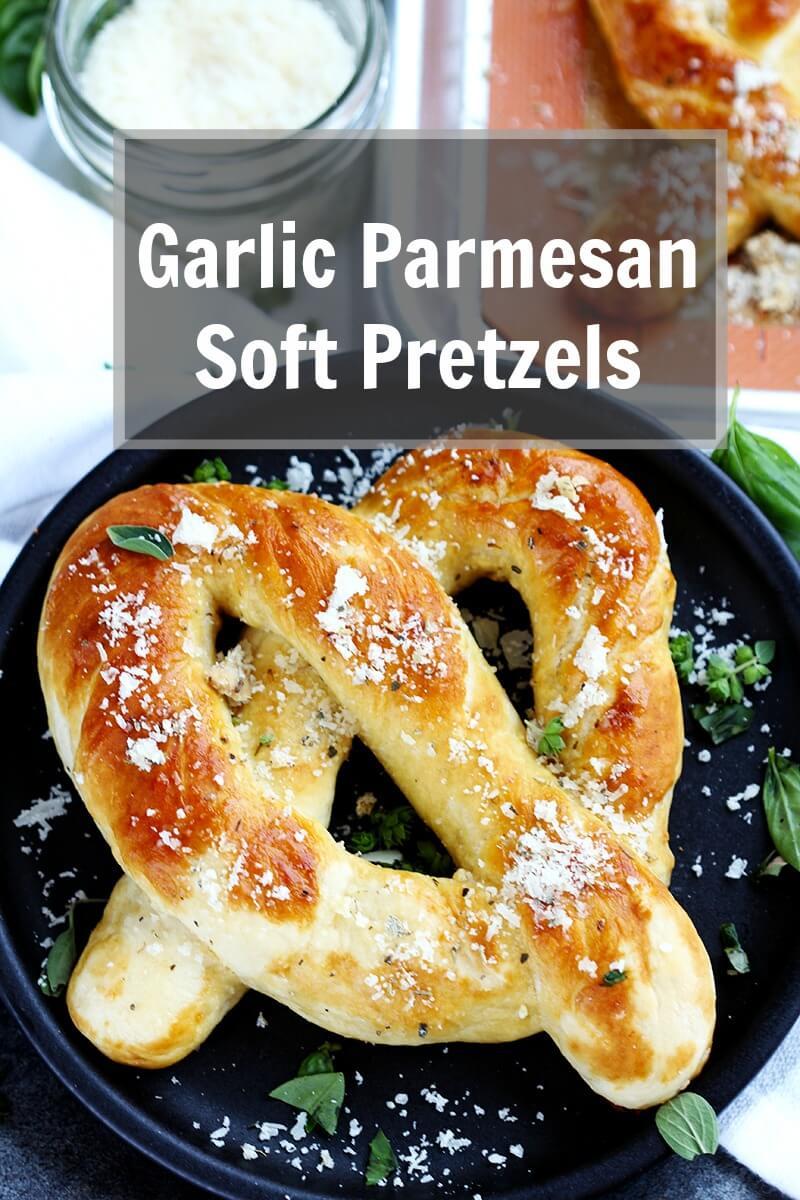 Garlic Parmesan Soft Pretzels