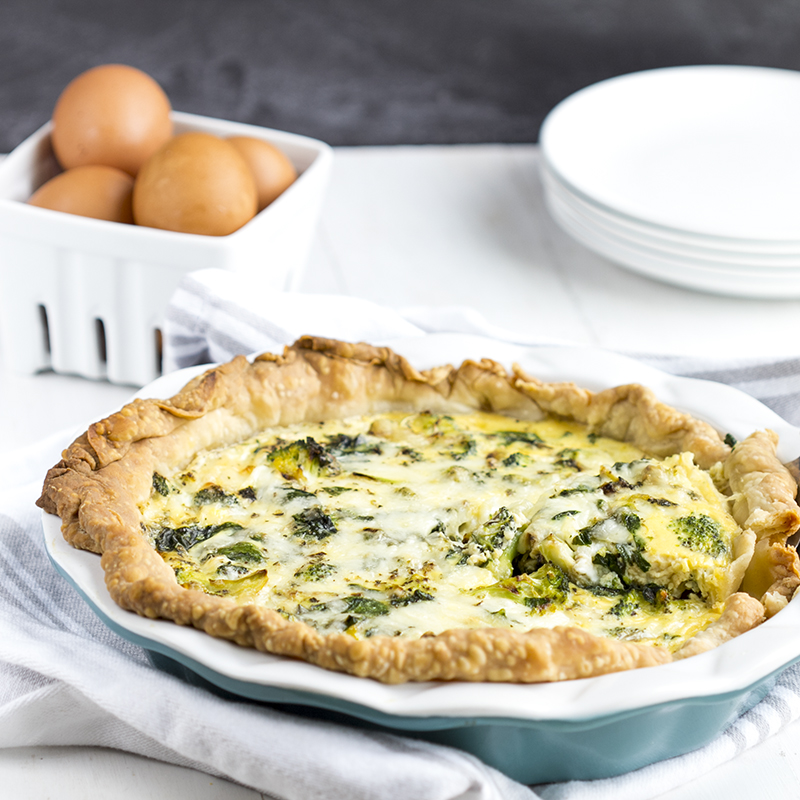 Spinach Broccoli Quiche
