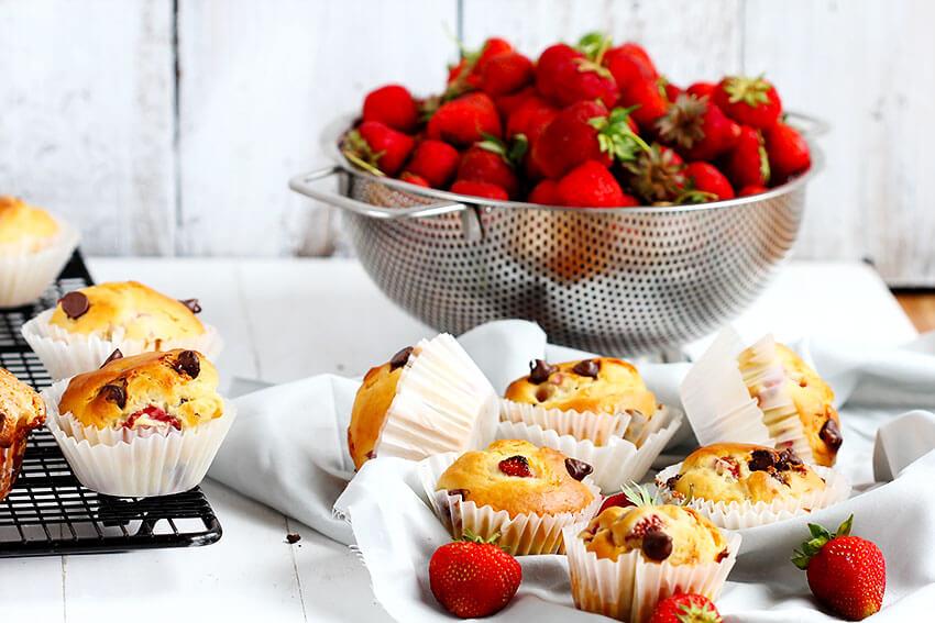 Strawberry Chocolate Chip Muffins