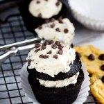 Cookie Dough Chocolate Cupcakes