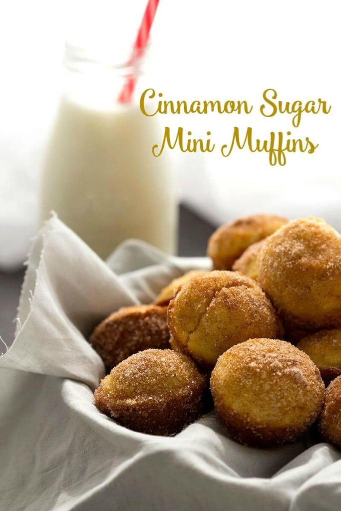Cinnamon Sugar Mini Muffins // Gather for Bread