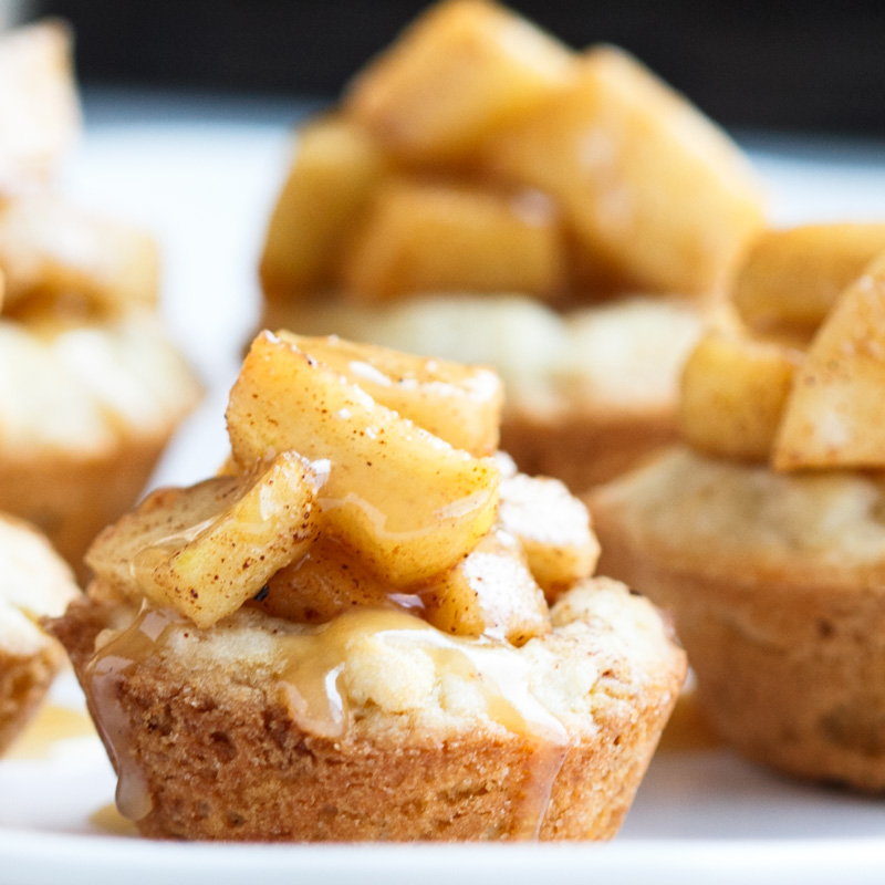 Caramel Apple Sugar Cookie Cups
