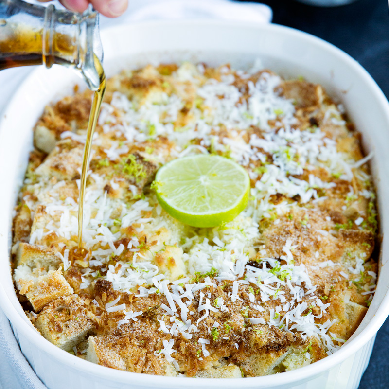 Coconut Lime French Toast Bake