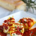 Chicken Bacon and Cheese Stuffed Shells