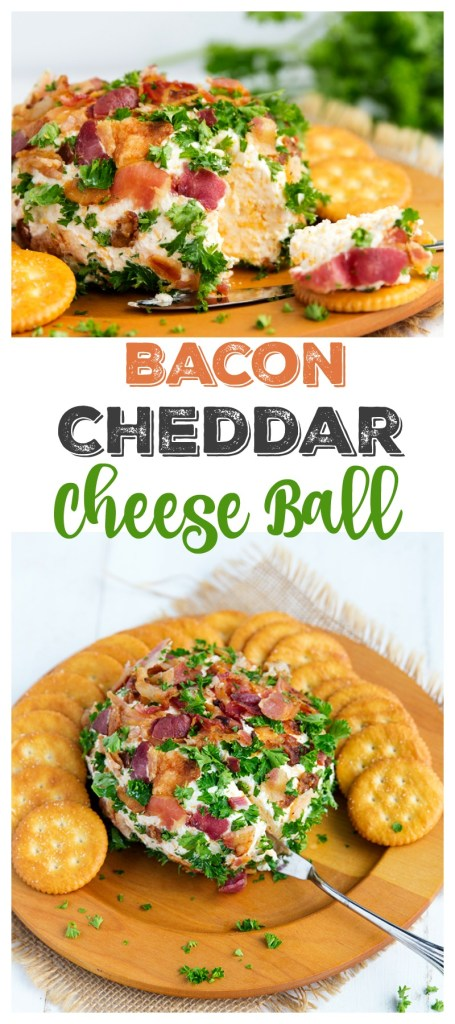 Bacon Cheddar Cheese Ball | gatherforbread.com