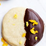Chocolate Dipped Orange Sugar Cookies   Gather for Bread