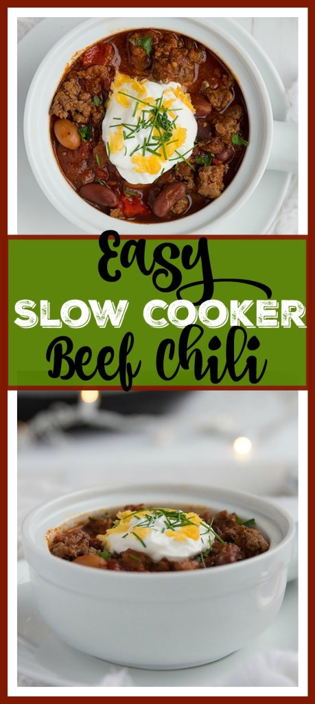 Easy Slow Cooker Beef Chili // gatherforbread.com