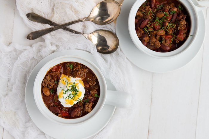 Easy Slow Cooker Beef Chili