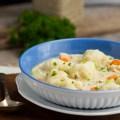 Chicken and Buttermilk Dumplings | gatherforbread.com