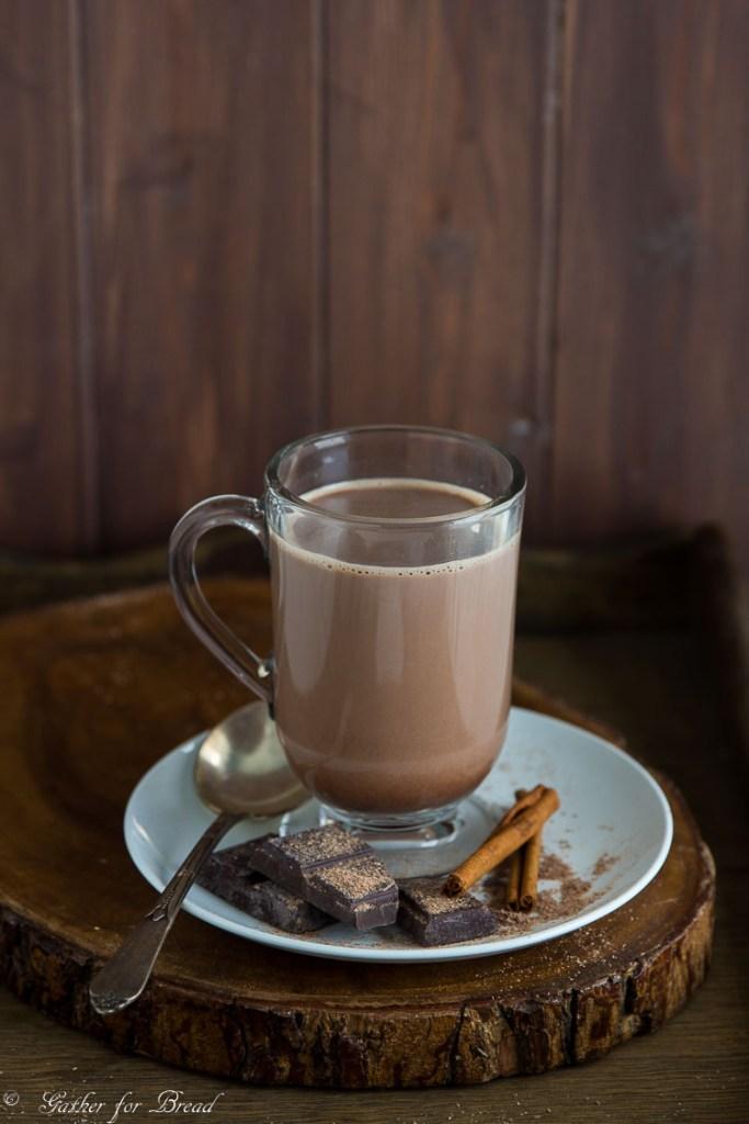 Simple Homemade Hot Chocolate   gatherforbread.com