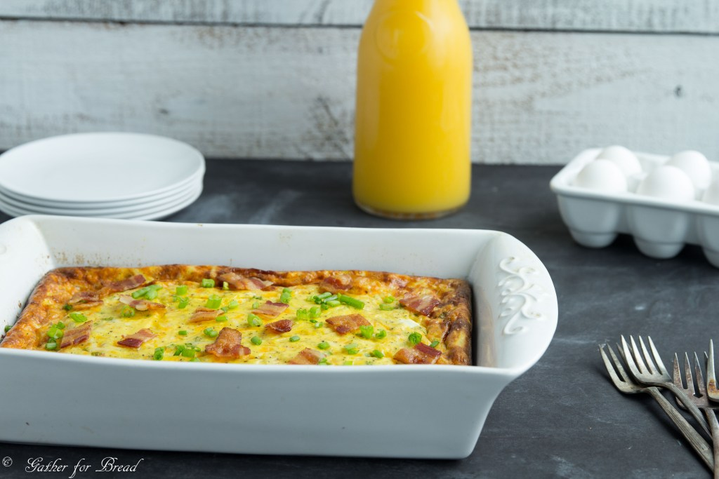 Bacon Egg Hash Brown Biscuit Bake | gatherforbread.com