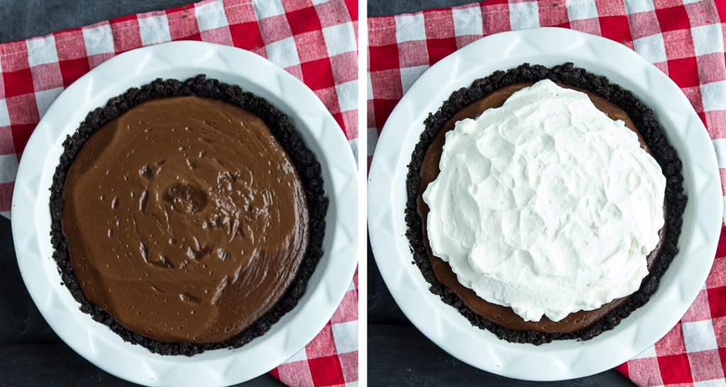 Homemade Chocolate Pudding Pie | gatherforbread.com
