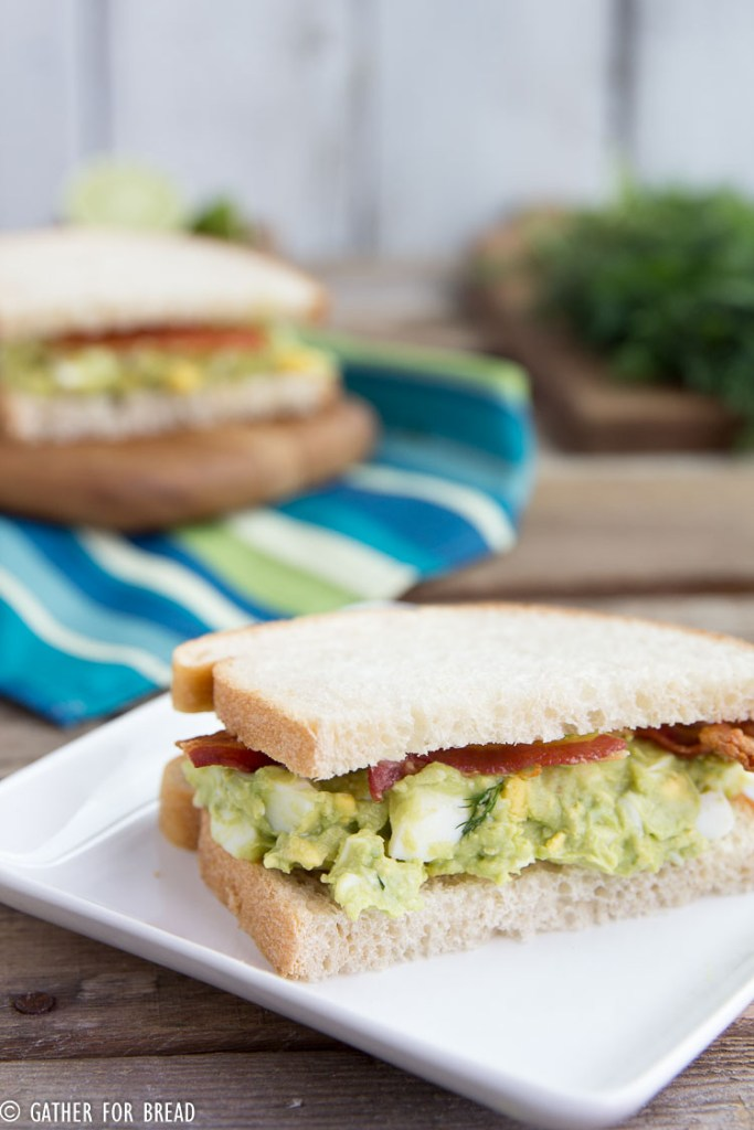 Avocado Bacon Egg Salad Sandwich