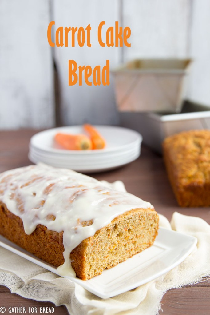 Carrot Cake Bread - Delicious healthier version of carrot cake, made with Greek yogurt and less sugar. // gatherforbread.com