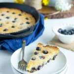 Blueberry Cornmeal Skillet Cake