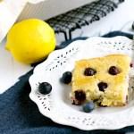 Lemon Blueberry Snack Cake