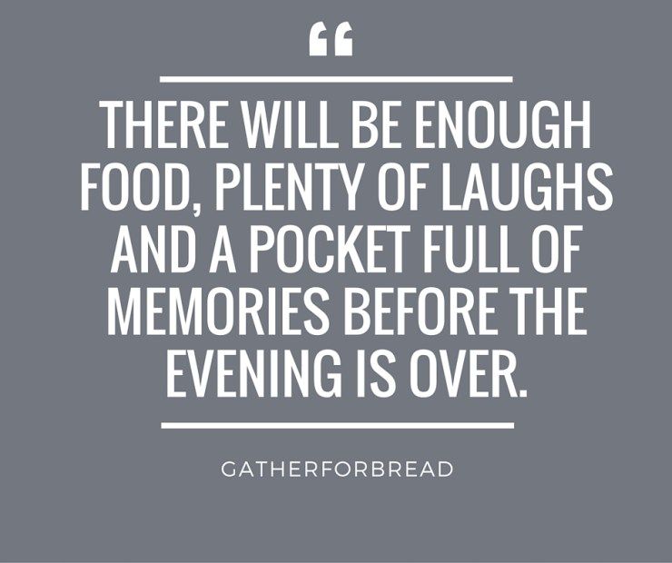 Hosting Getting Over Perfection : There will be enough food, plenty of laughs and a pocket full of memories before the evening is over.