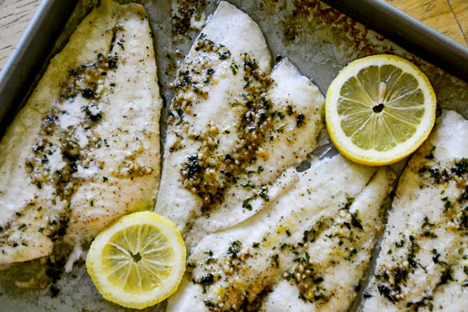 Easy Fish with lemon sauce