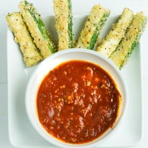 Oven Fried Parmesan Zucchini Sticks