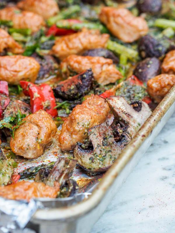 13 5-Ingredient-Pesto-Chicken-Sheet-Pan-Dinner-with-Veggies