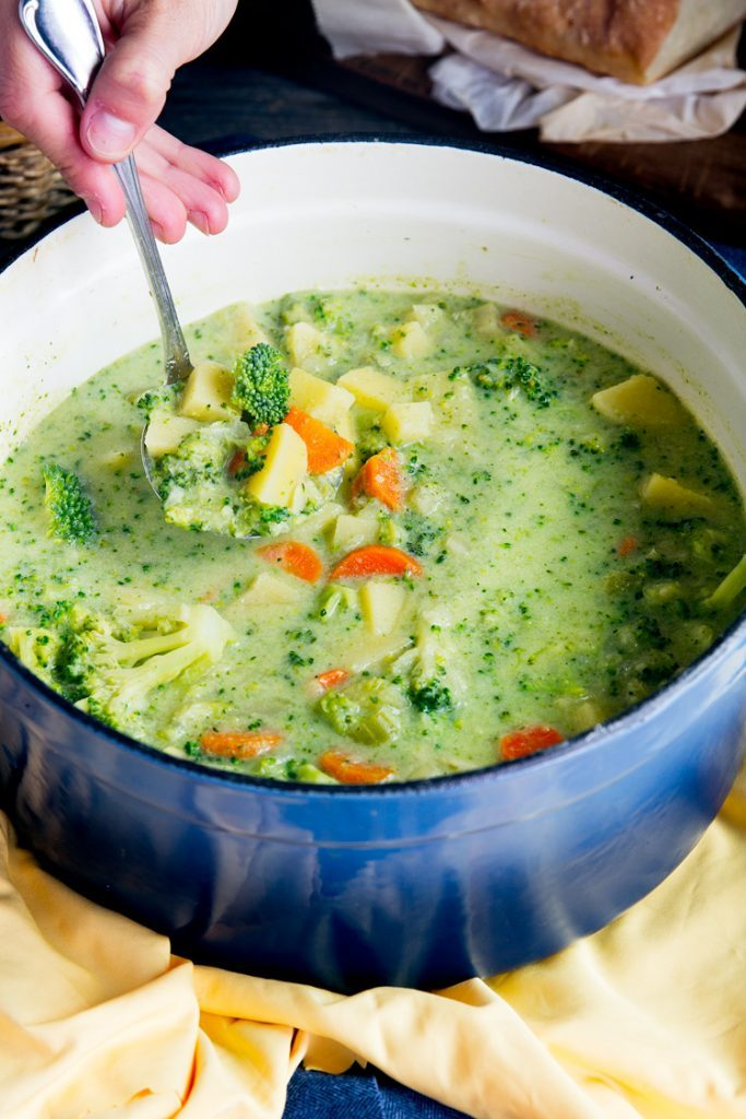 Broccoli Potato and Cheese Soup