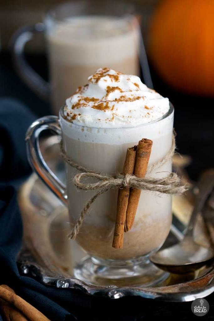 Pumpkin Chai Latte - Seasonal favorite. Homemade chai latte made with real pumpkin, chai