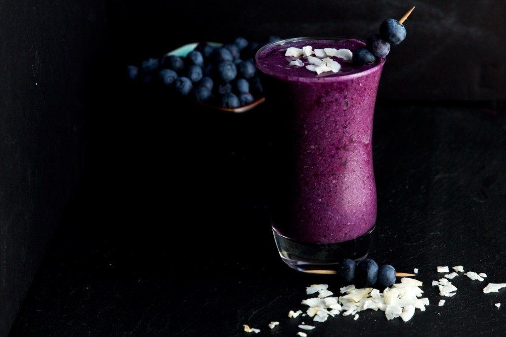 Blueberry Coconut Energy Smoothie