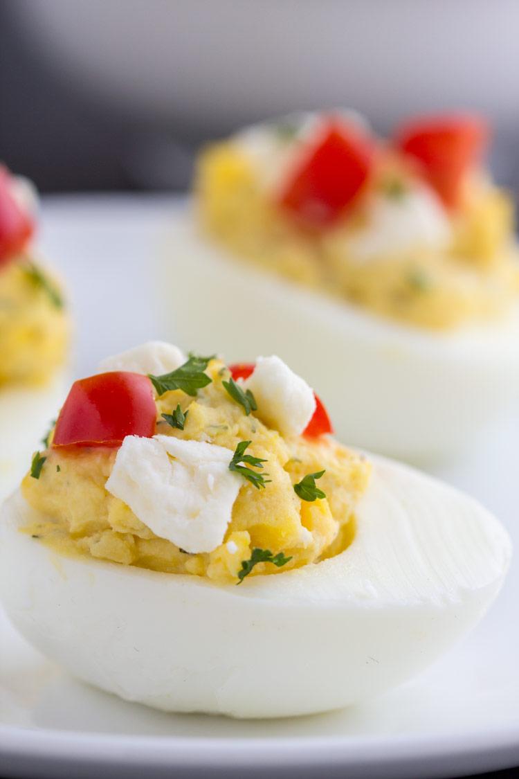 Feta Deviled Eggs Gather For Bread