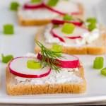 Radish Goat Cheese Sandwich Bites