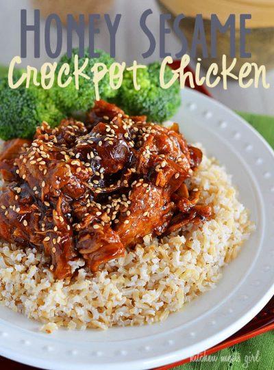 Honey Sesame Crockpot Chicken