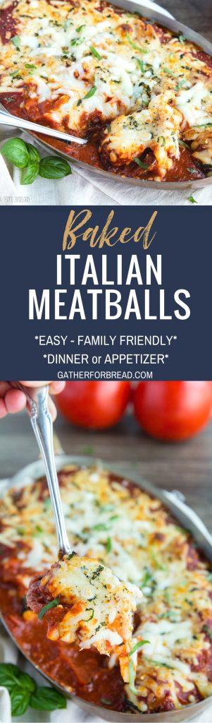 Baked Italian Meatballs - CheesyChicken Meatballs in a red pasta sauce.