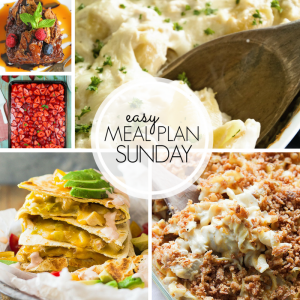 Easy Meal Plan Sunday Week 6