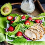 Grilled Chicken Salad Strawberry Poppy Seed Dressing