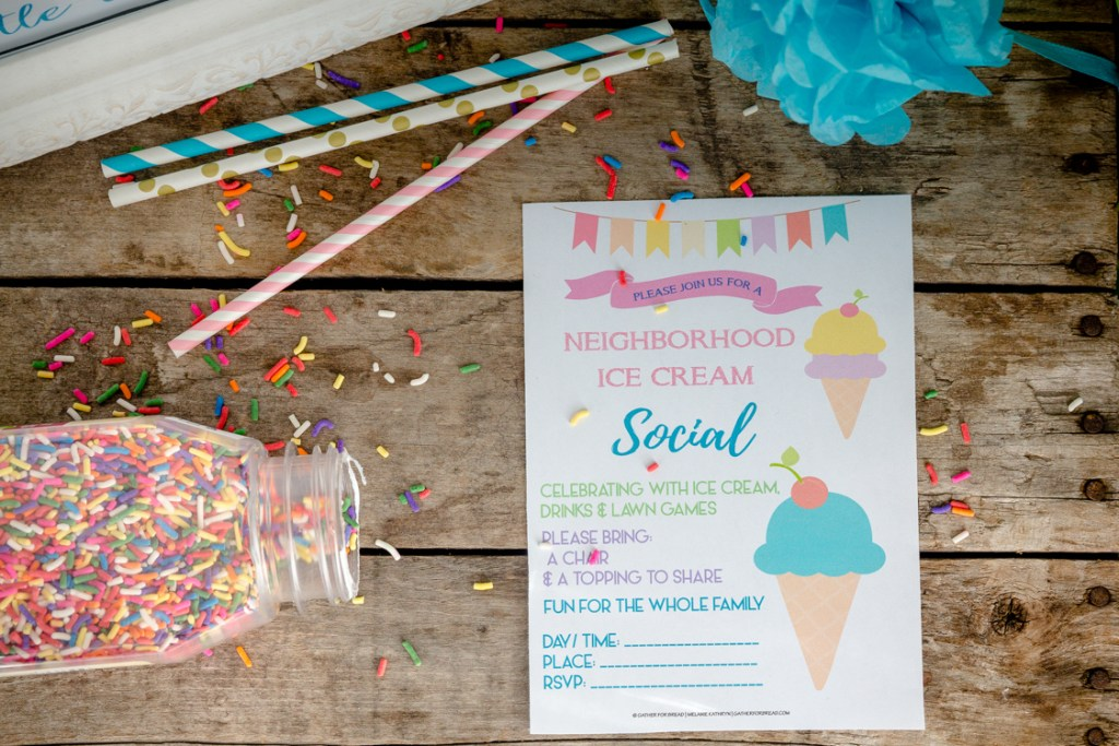 Ice Cream Social - Free Printable