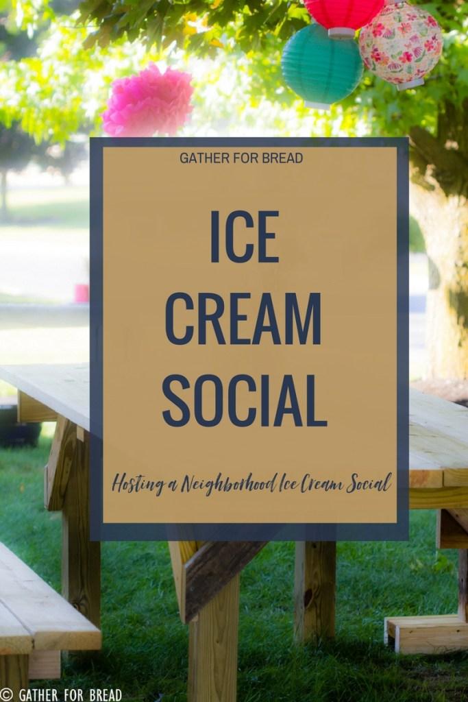 How to Host an Ice Cream Social - Hosting and planning a Neighborhood icecream party with ideas, printable invitation, photos and more.