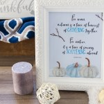 -This free printable Gathering Scattering quote print is a beautiful photo to decorate your home, office or personal space. Usher in fall with this reflection on autumn harvest and it's goodness.