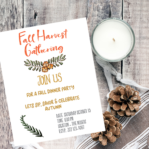 graphic relating to Free Printable Fall Party Invitations known as Slide Harvest Celebration Invitation Printable - Acquire for Bread