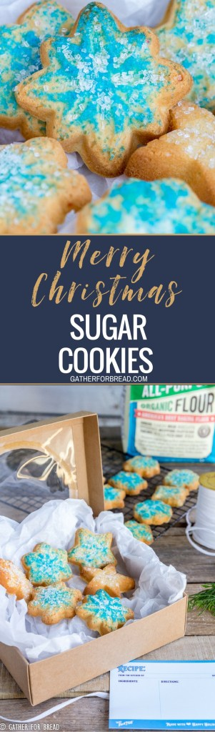 Merry Christmas Sugar Cookies - Homemade classic soft sugar cookies decorated for Christmas. Perfect, easy and ready to share for the holidays!