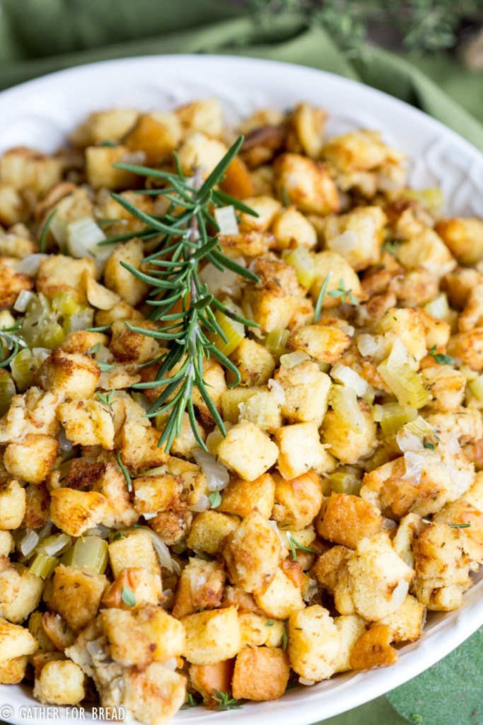 Mom's Traditional Stuffing - Mom's best bread stuffing recipe. It's classic but a staple for our Thanksgiving turkey meal. My holiday favorite passed down by her grandmother.