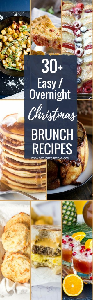Easy Made Ahead Christmas Brunch Recipes - Ideas for either easy OR make-ahead Christmas Breakfast or Brunch. We all want our holiday breakfasts to be both delicious and easy, right? We don't have time for 21 step, 4 hour recipes. So I've combed Pinterest to bring you easy breakfast ideas. #Christmas #holidays #brunch #breakfast #makeahead #overnight #ideas #recipes