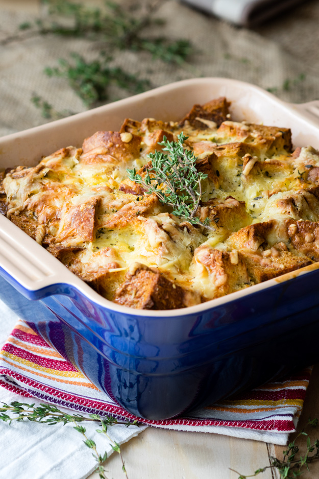 Savory Ham and Cheese Bread Pudding