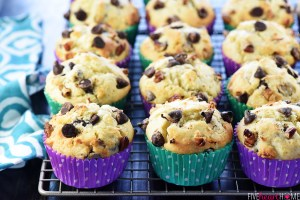 Coconut Pecan Chocolate Chip Muffins