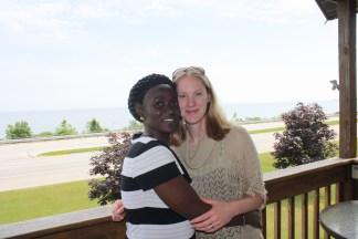 Isatou Ceesay with author Miranda Paul