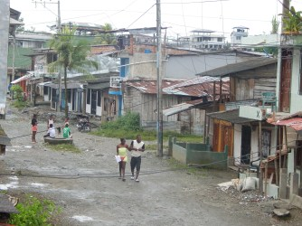 View of a barrio in Buenaventura. Photo by David Sulewski