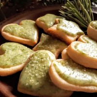 Citrusy Spruce Glazed Shortbread: Flavour Of The Forest
