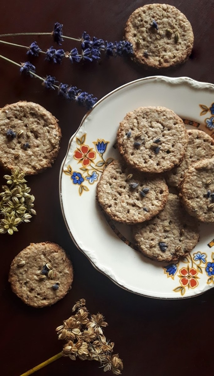 Calming, Uplifting Lavender Digestive Biscuits: Non-Gluten & Vegan