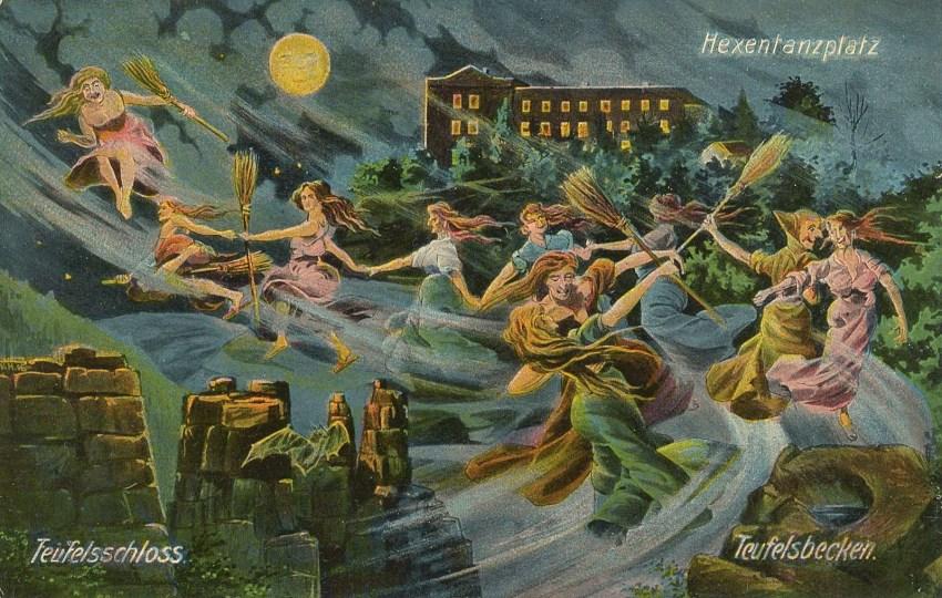 Walpurgis-Witches-Postcard