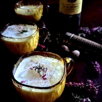 Whiskey & Spice Milk Punch w/ A Magical Touch of Heather