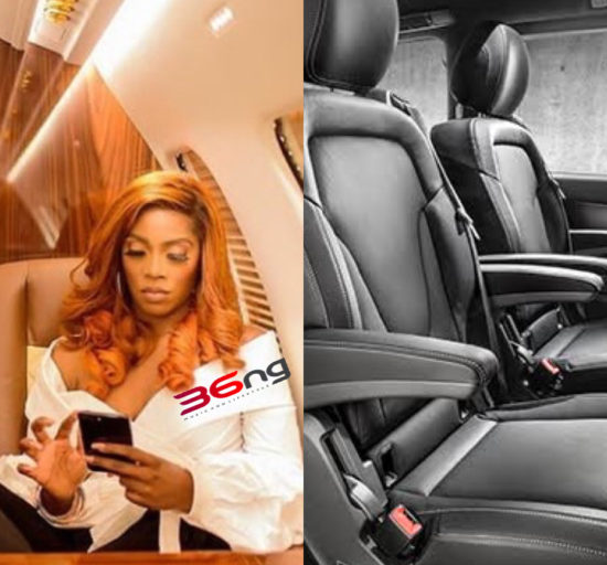 Tiwa Savage Takes Delivery Of Her ₦60m Customized Mercedes Benz V-Class   Watch