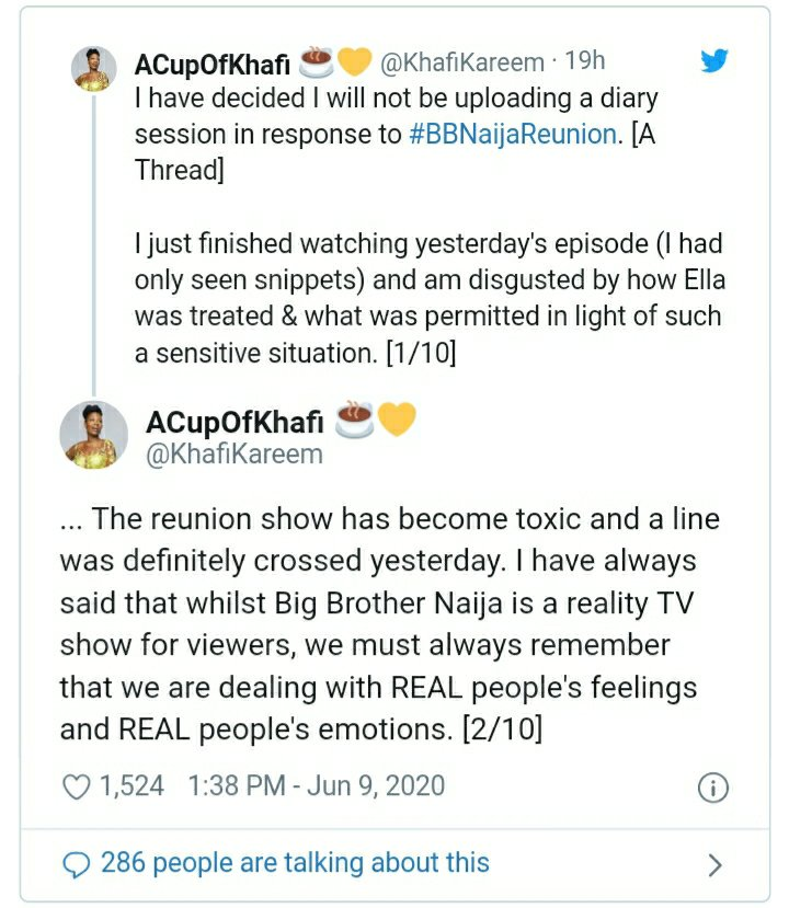 Khafi Kareem gets removed from BBNaija Pepper Dem WhatsApp group